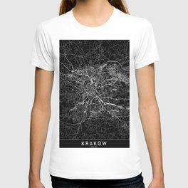 Krakow Black Map T-shirt