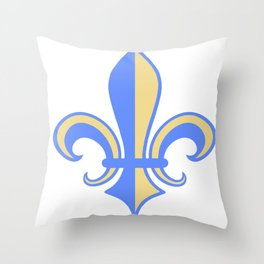 Two Tone Fleur-de-Lis Throw Pillow