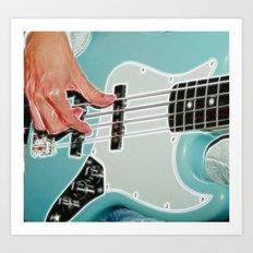 Mr Bassman Guitar fractals Art Print