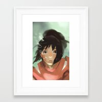 chihiro Framed Art Prints featuring Chihiro by MMCoconut