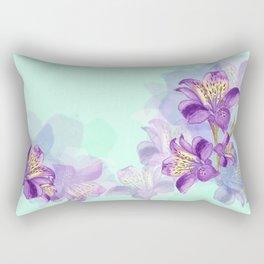 Purple Lilly Rectangular Pillow