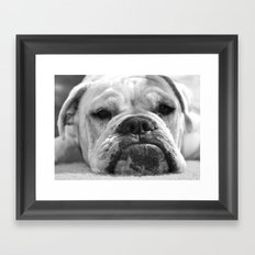 ....sigh Framed Art Print