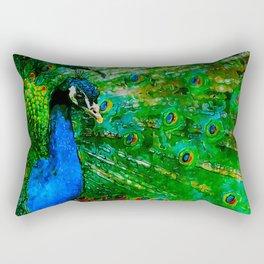 Peacock watercolor Rectangular Pillow