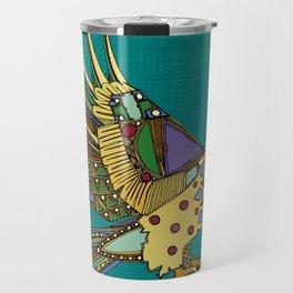 jewel eagle turquoise Travel Mug