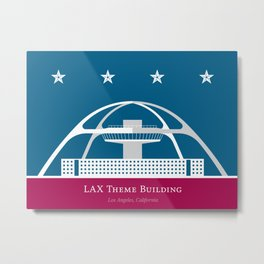 America: LAX Theme Building Metal Print
