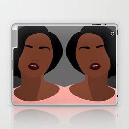 Mia - minimal, abstract portrait of an African American woman Laptop & iPad Skin