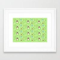 ghibli Framed Art Prints featuring Ghibli pattern by Sophie Eves