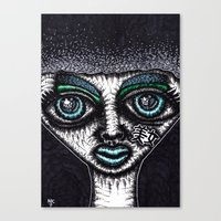 goth Canvas Prints featuring GOTH by NICHOLAS PRICE ART PRINTS