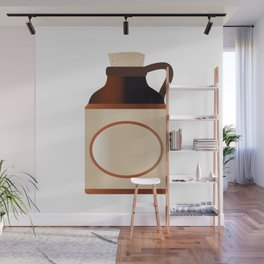 Blank Stone Bottle With Cork Wall Mural
