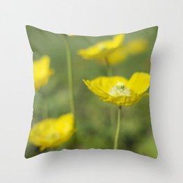 Dew Drops on Petals Throw Pillow