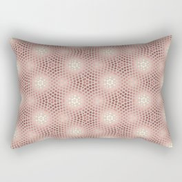 Rose Gold Burst Rectangular Pillow
