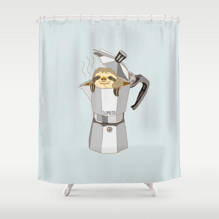 Slopresso Shower Curtain