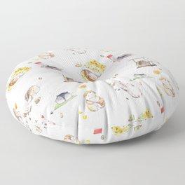 Lazy Hamster Floor Pillow