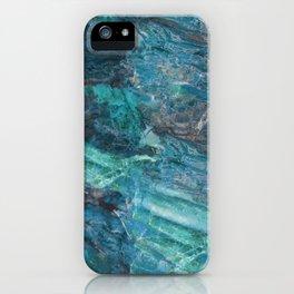 Azzurro Marble, Teal, Aqua, Blue iPhone Case