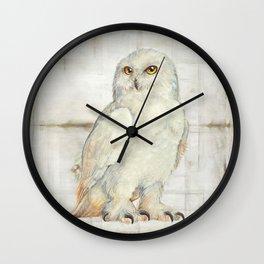 SnowOwl Wall Clock