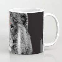 david bowie Mugs featuring David Bowie Lion by Urban Exclaim Co.