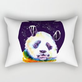Panda Technicolor Rectangular Pillow