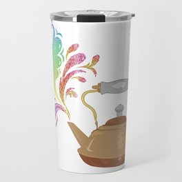Teapot Tempera Travel Mug