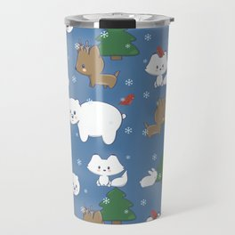 Arctic Animals Pattern Travel Mug