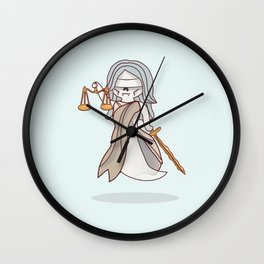 Ghostly Lady Justice Wall Clock