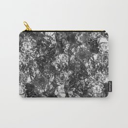 Moon Rock - Abstract, metallic silver textured lunar pattern Carry-All Pouch