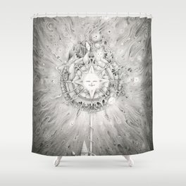 Moonlight Dream Caster Shower Curtain