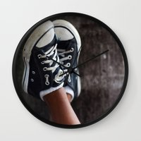 feet Wall Clocks featuring Feet by Sara_photographer