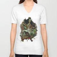 nurse V-neck T-shirts featuring Brookhaven Nurse by Apricot Mantle