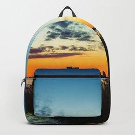 Gulf Coast Sunset Pano Backpack