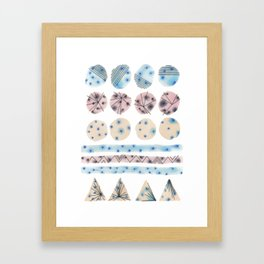 Geometrical Embroidery Framed Art Print