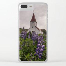 Vík í Mýrdal Church Clear iPhone Case