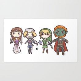 Zelda Chibis Art Print