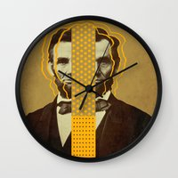 lincoln Wall Clocks featuring AbracadAbraham - Lincoln by AmDuf