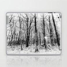 Monochrome Snow Forest Art Laptop & iPad Skin