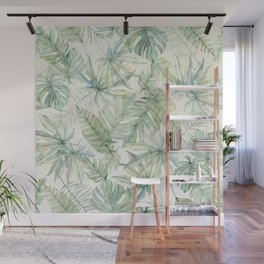Green Tropical Leaves Wall Mural