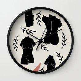 woman torso roman art Wall Clock