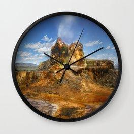 Fly Geyser - Nevada Wall Clock