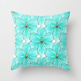 Flower Sketch 2 Throw Pillow