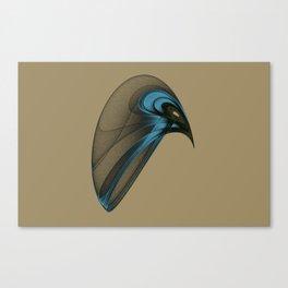 Fractal Bird with Sharp Beak Canvas Print