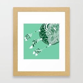 Mint Dreamcatcher Framed Art Print