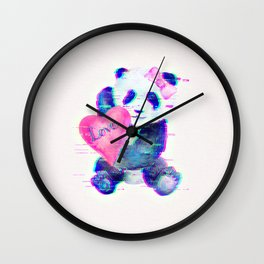 GLITCH PANDA Wall Clock