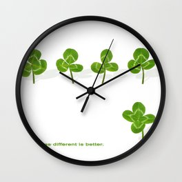 Sometimes different is better. Wall Clock