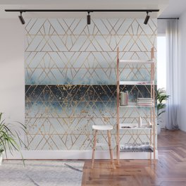 Winter Blue Geo Wall Mural