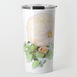Pumpkin Roses Travel Mug