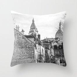 Sacre Coeur view Montmartre Paris Throw Pillow