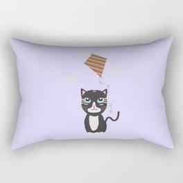 Cat with Kite Rectangular Pillow
