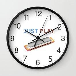 Just Play the Harmonica Wall Clock