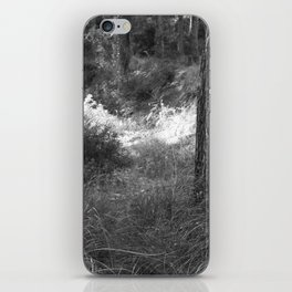 Black and white country forest iPhone Skin