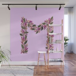 Leafy Letter M Wall Mural