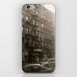 New York Street with Holga iPhone Skin
